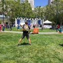 Dancing and singing as part of a cultural festival in San Francisco.