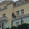 Casually hanging out on a building in Estoril.