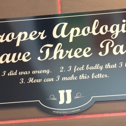 My standards aren't particularly high when signs at Jimmy Johns get it right.